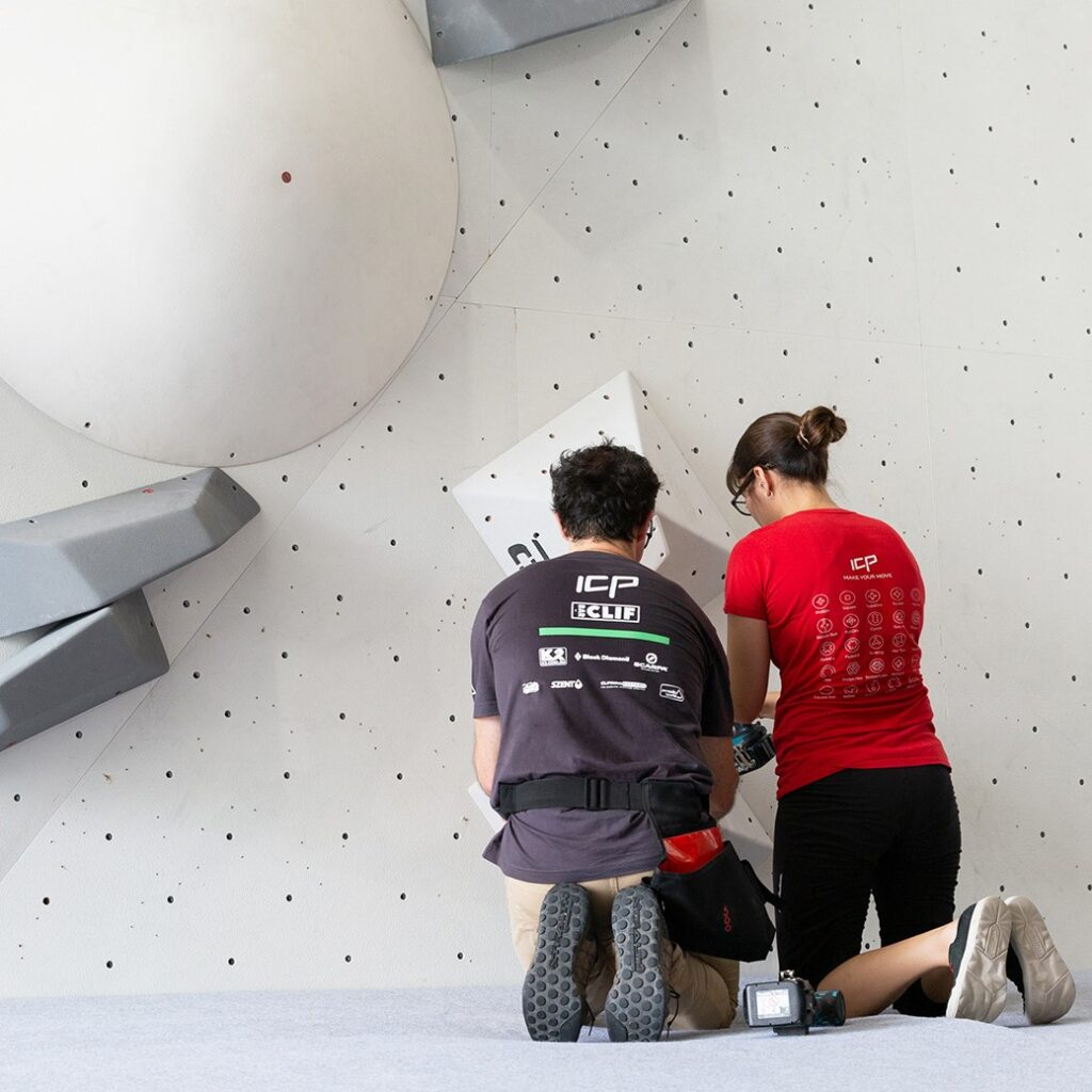 Photo of Bek and Rob from ICP Indoor Climbing Productions