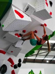 Flow Bouldering Operations Manager Angel Freeman makes it look easy on a level-red route. Now there are even more fun and exciting things to do on the Sunshine Coast at Flow Bouldering.